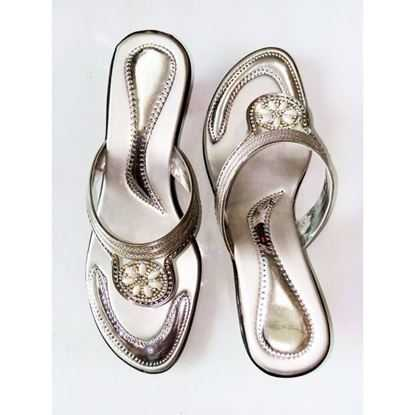 Fancy Silver Slippers