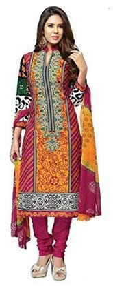 Picture of Women's Cotton Printed Unstitched Regular Wear Salwar Suit