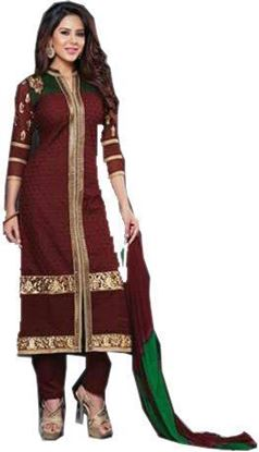 Picture of Women Heavy Cotton Unstitched Embroidery Suits
