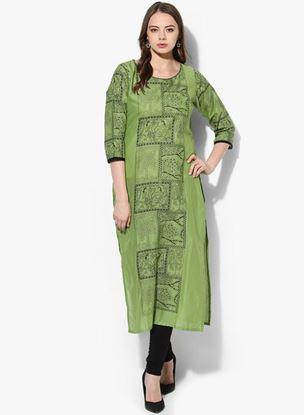 Picture of Green Printed Kurta