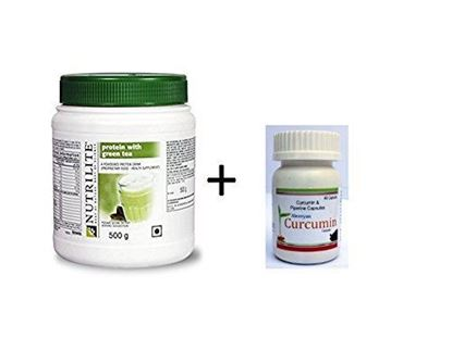 Picture of AMWAY AlexVyan Curcumin and Amway NUTRILITE Protein with Green Tea Powder