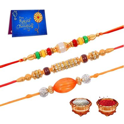 Picture of Dreamcart Woden Rakhi Combo