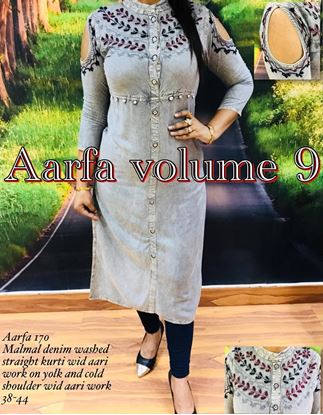 Picture of  S.K Mani AARFA VOLUME 9 Denim Kurti #1