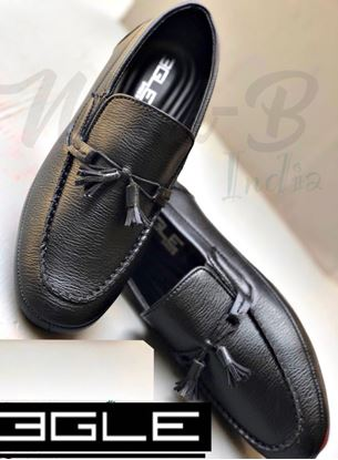 Picture of S.K Mani Men's BGLE LATHER SHOES BLACK