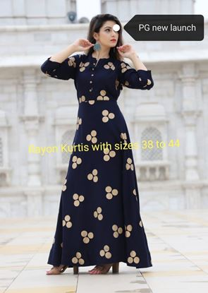 Picture of  PG Rayon long length Kurtis