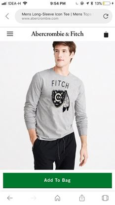 Picture of Aquarian new product ABERCROMBIE & FITCH FULL SLEEVES TEES*
