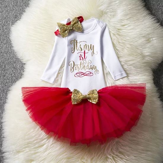f12b7039b099 Alfa Store. KID  S 1 St birthday dress Romper and Skirt