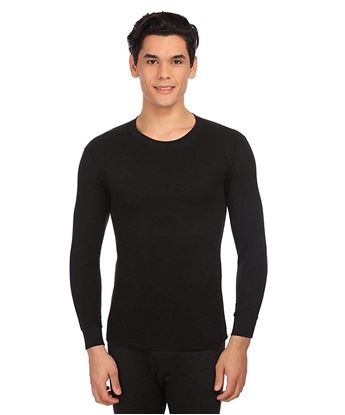 Picture of AMUL Ultima Black V Neck Body Warmer Thermal Wear