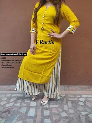 Picture of Beautiful kurti and plazoo set F-Kurti 1543