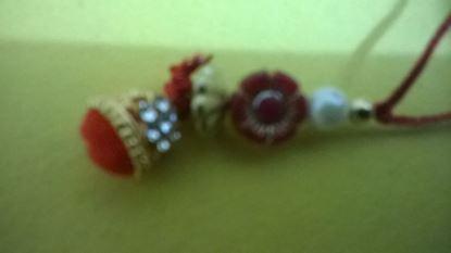 Picture of Red Pearl Lumba Rakhi