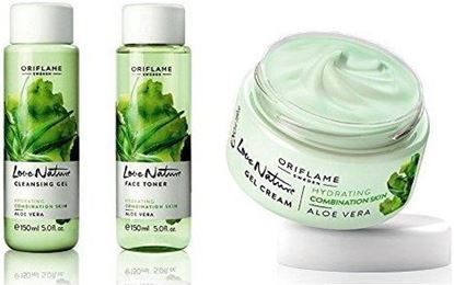 Picture of Love Nature Aloe Vera SET OF 3 (CLEANSING GEL+FACE TONER+GEL CREAM)