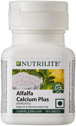 Picture of Amway Nutrilite Alfalfa Calcium Plus - 90 Tablets