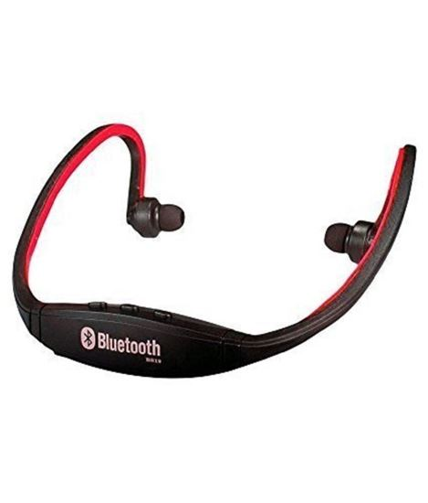 Picture of Bluetooth Headset (with Micro Sd Card Slot and FM Radio) Red for Quantum
