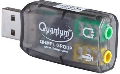 Picture of Quantum USB Sound Card QHM 623 3D Virtual 5.1 Stereo & Mic for PC Laptop Desktop