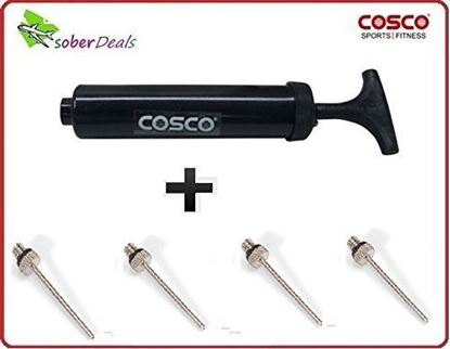 Picture of  COSCO air filling pump and four spare needles at best price