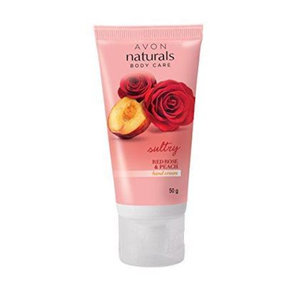 Picture of Avon Naturals Red Rose & Peach Hand Cream (50g)