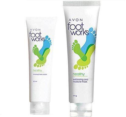 Picture of Avon Cracked Heel Cream (50 g)+ Exfoliating & Moisture Mask (100g)
