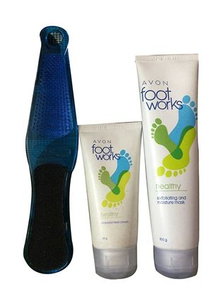 Picture of Avon Foot Works Cream,mask & filer (Set of 3)