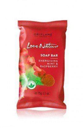 Picture of Oriflame Love Nature Soap Bar Energising Mint & Raspberry 75 Gram