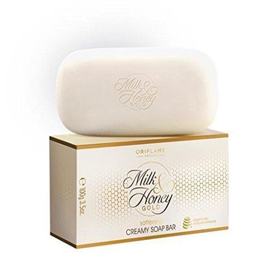 Picture of Oriflame Milk & Honey Gold Softening Creamy Soap Bar - 100G (2 Soaps)