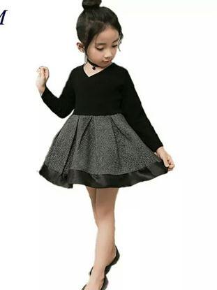 Picture of Black shimmer  lovely princess dress