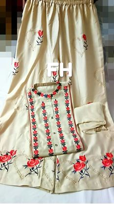Picture of  S.K MANI Reyon Cotton top  with embroidery*