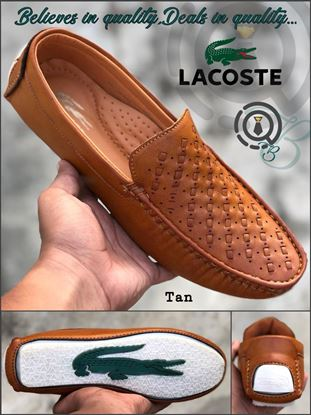Picture of S.K Mani Men's LACOSTE DRIVING SHOES (TAN)