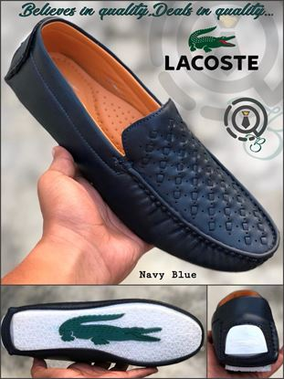 Picture of S.K Mani Men's LACOSTE DRIVING SHOES Navi Blue