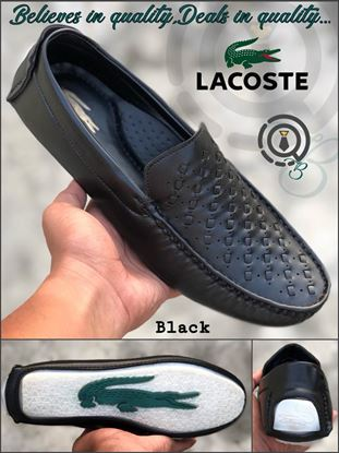 Picture of S.K Mani Men's LACOSTE DRIVING SHOES BLACK
