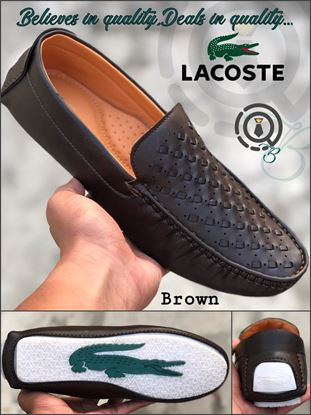 Picture of S.K Mani Men's LACOSTE DRIVING SHOES BROWN