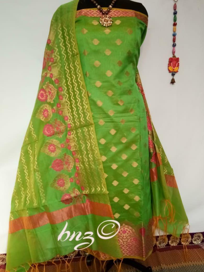 Alfa Store S K Mani Banarasi Chanderi Cotton Salwar Suit 3