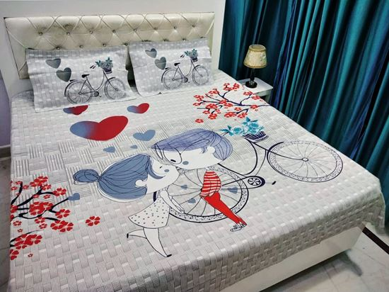 Alfa High Quality Cotton King, What Size Is A Double Bed Cover In Cm