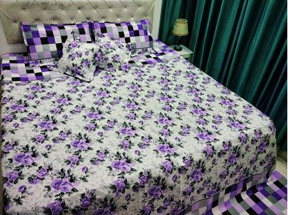 Picture of 100% COTTON VIJAY MILL DOUBLE BED SHEET CUSHION SET**