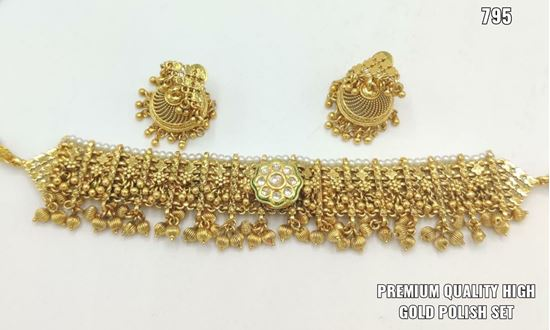 Picture of Premium high quality gold polish jewellery set