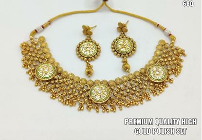 Picture of exclusive gold plated party jewellery