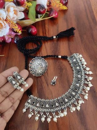 Picture of STONE THREAD NECKLACE COMBO SET