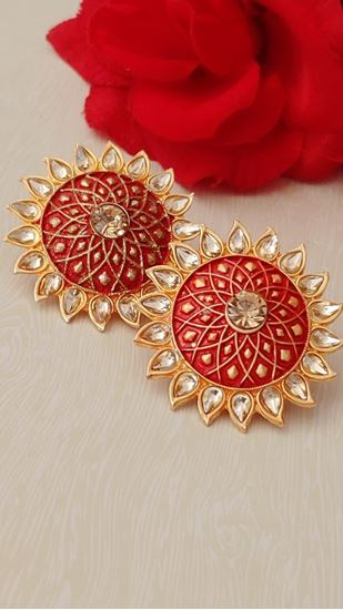 Picture of EARRING TUBS RED