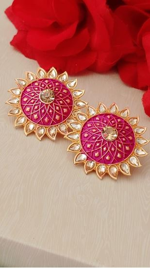 Picture of EARRING TUBS PINK