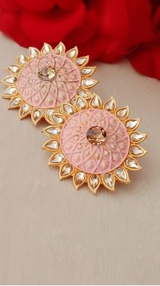 Picture of EARRINGS.. Big Size best quality light pink