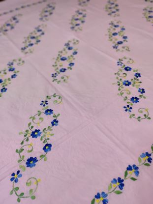 Picture of handmade embroidery bedsheets for king size bed