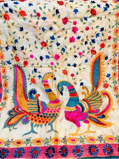 Picture of Hand Embroidery Dupatta chanderi silk
