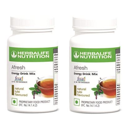 Picture of Herbalife Afresh Energy Drink Mix Tulsi - Set of 2