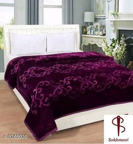 Picture of Exotic Attractive Polyester Double Bed Blankets