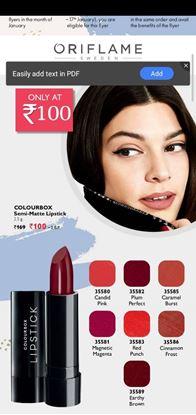 Picture of oriflame colourbox Semi Lipstick 2.5 gm