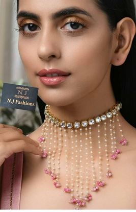 Picture of Kundan party wear necklace