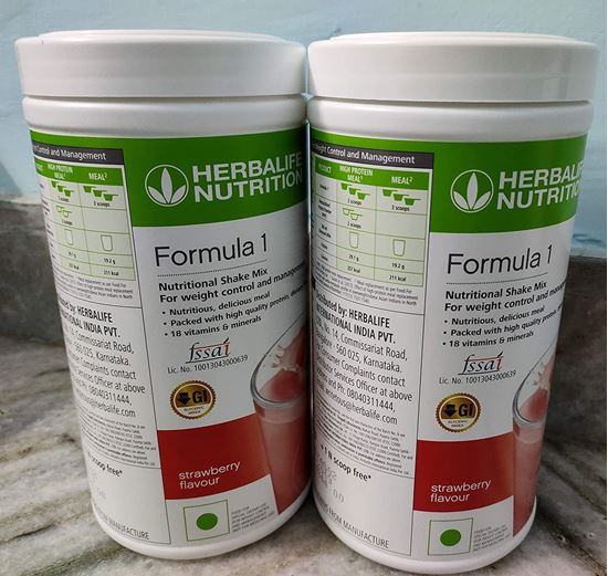 Picture of Herbalife Formula 1 Nutritional Strawberry Shake (1 Kg) - Pack of 2