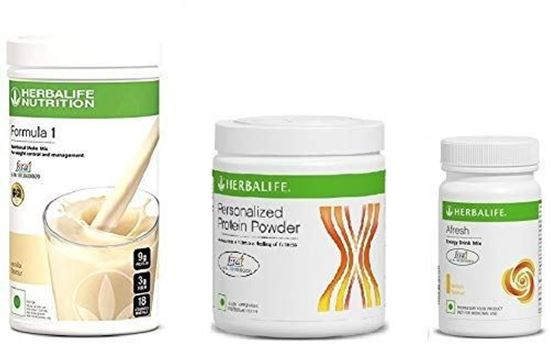 Picture of Herbalife Weight Loss Package- Vanilla Shake 500gm, Personalized Protein Powder 200 Gm and Afresh Lemon 50 Gm