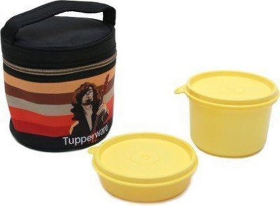 Picture of Tupperware Plastic Lunch Box with 2 Containers, Multicolour