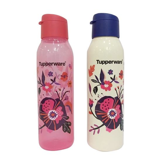 Picture of Tupperware Cool n Chic Plastic Bottle, 750 ml, Set of 2, Multicolour