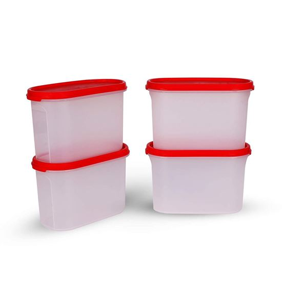 Picture of Tupperware Plastic Storage Container- 1.1 liters, 4 Pieces, White